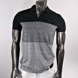 Calvin Klein Black & faded Gray Polo shirt